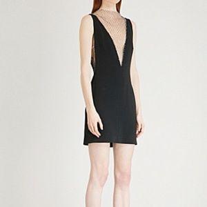 Stella McCartney black mesh embellished mini dress